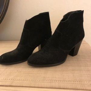 Tesori Black Suede Boots